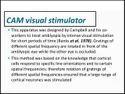 Cam Vision Stimulator Amblyopia