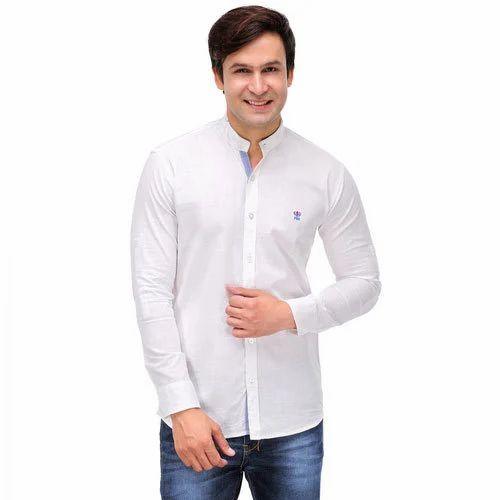 White Casual Shirts, Gents Casual Shirt, Mens Plain Shirt - Global ...