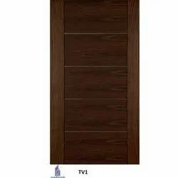 Wood TV1 Brown Flush Veneer Wooden Door, Size: 81x36 Inch