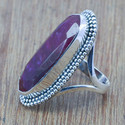 925 Sterling Silver Cabochon Ruby Gemstone Rings