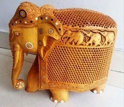 Wooden Carving Undercut Elephant