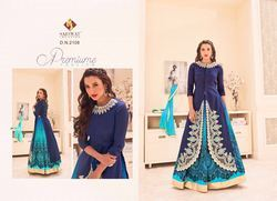 Blue Color Bollywood Designer Anarkali Suit
