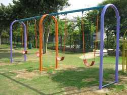 Outdoor Four Seater Arc Swing