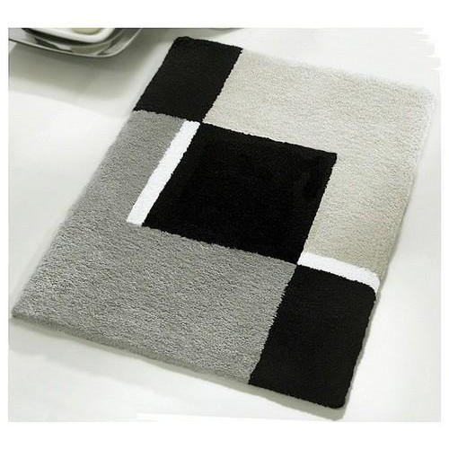 Gray And Black Fancy Bathroom Mat Rs