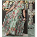 Mfc 1239 Chiffon One Piece Dress, Size: 38 - 44