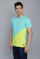 Round Neck Spring Green Contrast T-Shirt