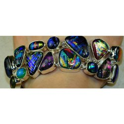 92.5 Sterling Silver Dichroic Glass Necklaces