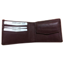 Mens Plain Brown Bifold Wallet