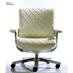 3d2dcc520ab White Leather Kenzo Series Medium Back Office Chair