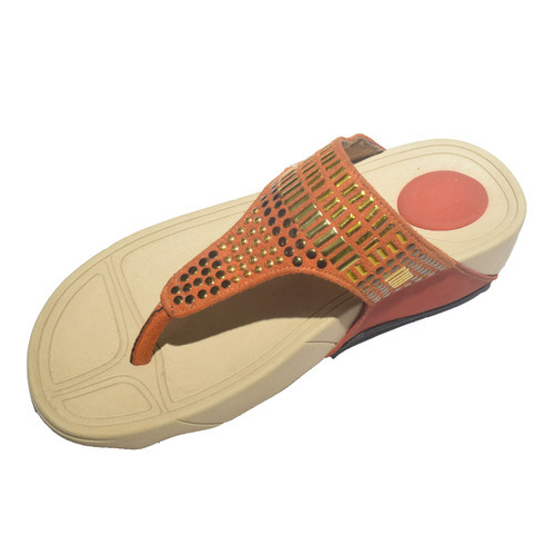 e6161ef63 Ladies Synthetic Suede Designer Flip Flop Sandal