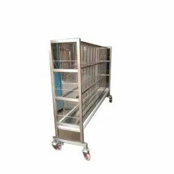 Silver Free Standing Stainless Steel Plate Storage Rack, 0-50 kg, Size: 5 X 1.5 X 5 Feet