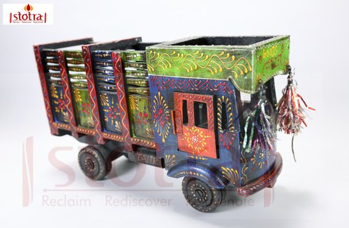 Wooden Hand Painted Truck