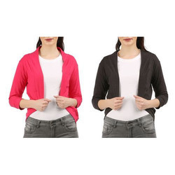 Black And Pink Womens Shrug
