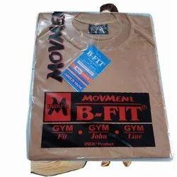 Plain Half Sleeve Mens Movment B Fit T Shirt, Size: Free size
