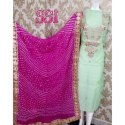 Chanderi Semi Formal Suits W-661