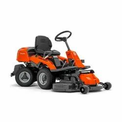 Orange and Black Husqvarna R213C 6.6 kW Ride On Land Mower, For Farm, Garden, 231 Kg