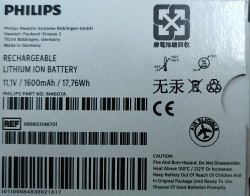 Philips M4607a Battery for MP2 X2 PATIENT MONITOR