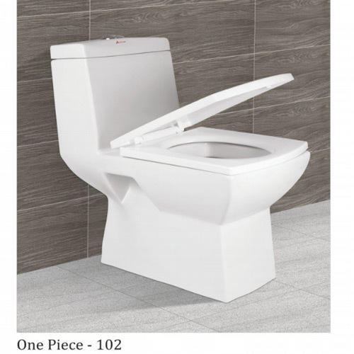 White Ceramic, Plastic One Piece Water Closet