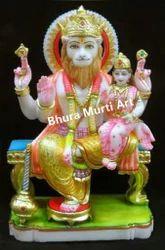 White Marble Narasimha Statue