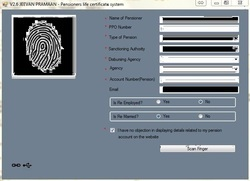 Biometric Fingerprint Scanner RD Registered Device for Jeevan Pramaan 3.0 Version USB Machine