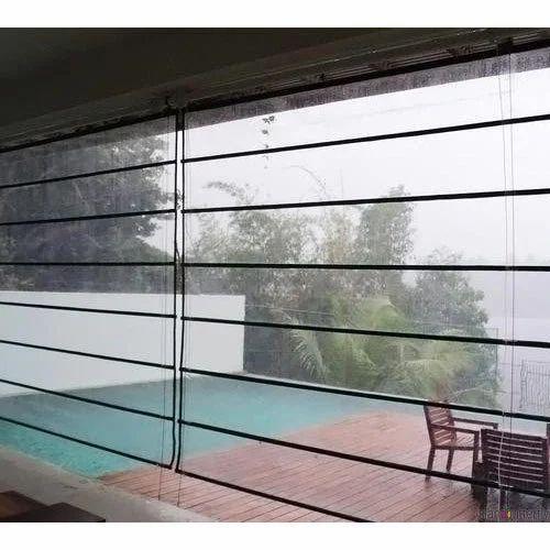 Transparent Pvc Horizontal Monsoon Blinds