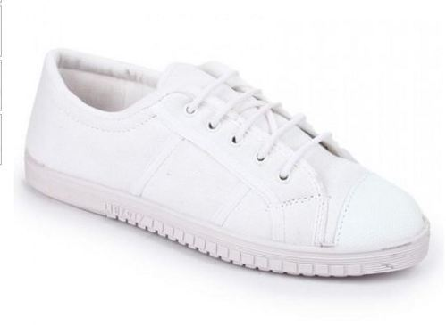 Gliders Kids White School Shoes Tennis