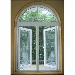 White Upvc Arched Window