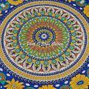 Bohemian Mandala Beach Round Tapestry