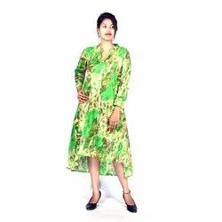 Cotton Casual Wear Ladies Designer Long Dress