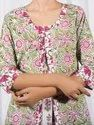 Jaipuri Block Printed Cotton Kurti with Palazzo Pants Set