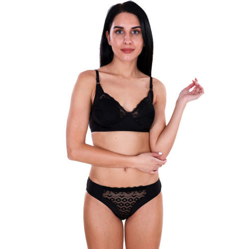 Black Satin Bra And Panties Pics