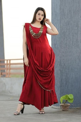 stylish party wear indo western gown