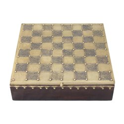 Chess Brass Dry Fruit Box, Size: 12 Inch