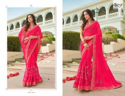 Red Party Elegant Designer Saree