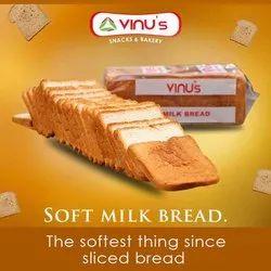 Vinu Distributors Milk Bread, For Home