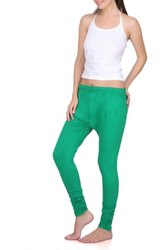 Strechable Plain Ladies Cotton Lycra Ruby Leggings/ v cut leggigs, Size: Free Size
