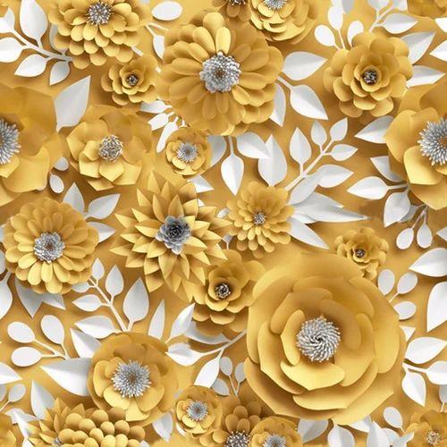Flower Printed Curtain Fabric