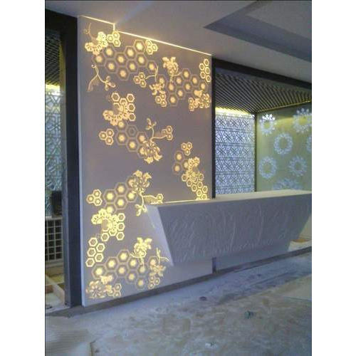 White Corian Backlit Panel Rs 1100 Square Feet Sra