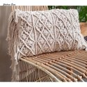 Macrame Cushion Cover Decorative Throw Pillow Case 45X45 cms 18X18 16X16 inch