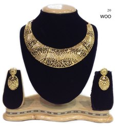 Gold Plated Choker Necklace Set