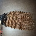 Indian Human Curly Hair Ombre Color