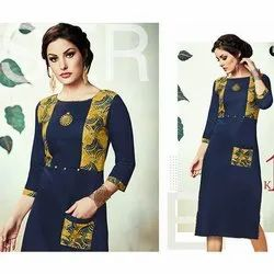 Straight Kurti with Pocket