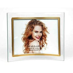 Glass Curved Photo Frame