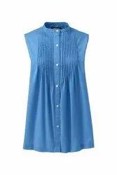 Eco Cotton Ladies Sleeveless Tops