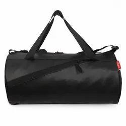 Sfane Black Leather Gym Bag