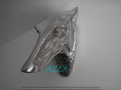 Wall Mounted Greyhound Head