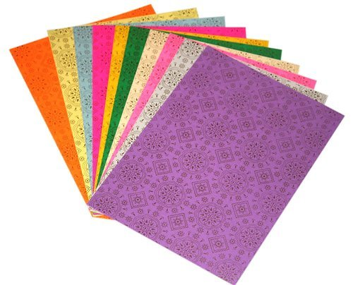 A4 Size Craft Paper Sheets With Single Side Pattern 10 Pc At Rs 40
