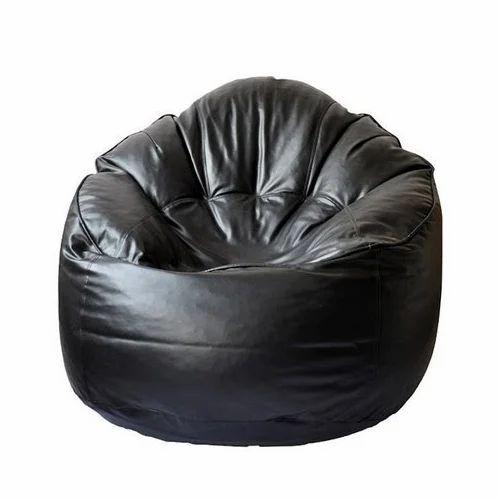 Leatherete Round Sofa Muddha Bean Bag