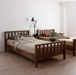Brown Modern Double Cot Bed