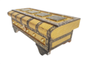 Royal Treasure Chest - Wooden Jewellery Box - Golden